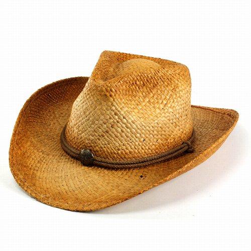 Straw Hat Hat brand Henschel and straw hat men s Fedora and raffia   cowboy  hat   natural (straw straw Western Hat) f5d64496360