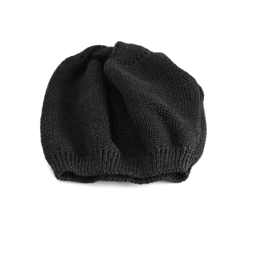 LE MILIEU (Le milieu) cotton hemp knit short watch black (black) (hat CAP and clean stylish folks casual adult casual fashion knitted Hat knitted Cap Kamon Cap watch store Rakuten) (senior day)