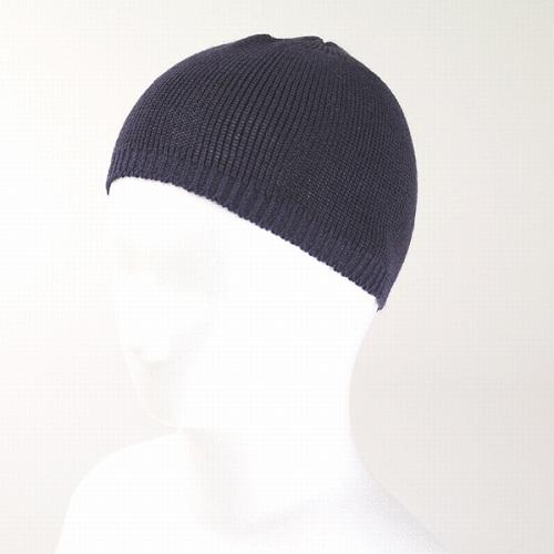 Caps men's hats knit hats summer knit spring women's LE MILIEU (Le milieu) cotton hemp knit short watch dark purple (hat CAP and stylish fashion store)