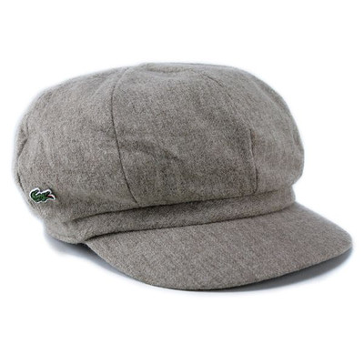 Hat new work wool casquette brand Lacoste men gap Dis LACOSTE beige Baker  boy hat gift present packing in the fall and winter fe41264117d