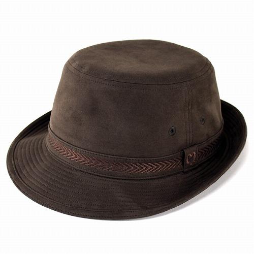 ミラショーン 帽子 メンズ ハット 茶 アルペンハット ブランド アマレッタ バックスキン調 高級感 形がきれい アルペン帽 サイズ豊富 紳士 / ブラウン [ alpine hat ]ギフト プレゼント 男性 帽子通販