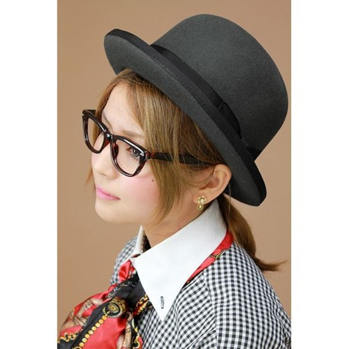aa296bce0c Mens   solid   bowler hat and wool   wool   felt   Cap body   women s   hat    men s   hat   grey  FUJI HAT and huge heat (fall winter merchandise ...