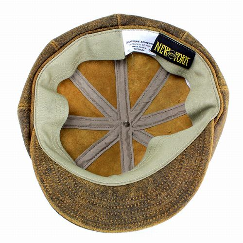 4f48c222 ... Hunting caps men hats New York Hat antique cowhide leather newsboy  Brown ANTIQUE LEATHER SPITFIRE 9245
