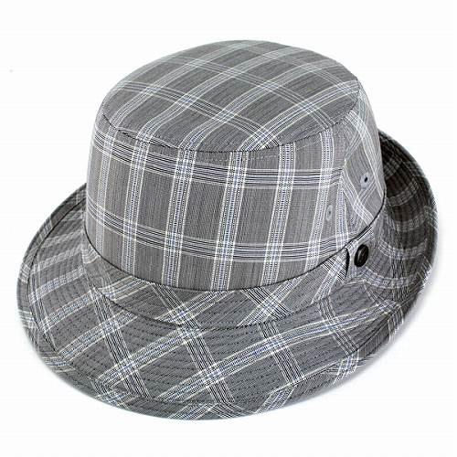 ハット メンズ 帽子 アルペンハット ボルサリーノ チェック柄 サマーウール 大きいサイズ borsalino アルペン帽 紳士 サイズ豊富 S M L LL 日よけ 帽子 / 灰色 グレー [ alpine hat ] ギフト プレゼント 誕生日 男性 帽子 ボルサリーノ 通販