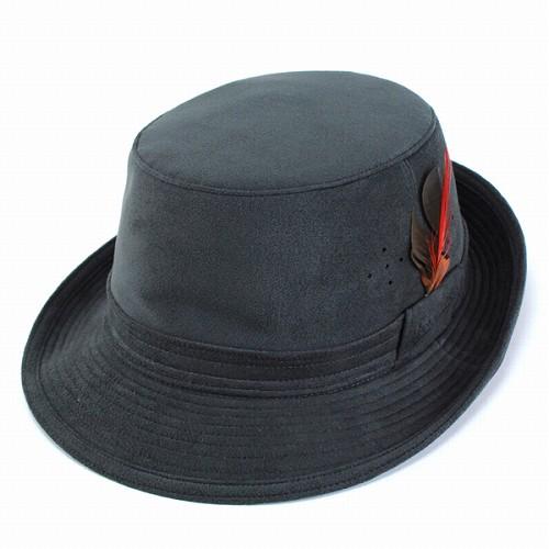 帽子 ハット 帽子 メンズ ボルサリーノ アルペンハット スエード調人工皮革 収納可 borsalino グレー [alpine hat] 送料無料 (大きいサイズ 秋冬用 秋冬商品 帽子 ぼうし アルペンハット おしゃれ 秋物 冬物 通販 )