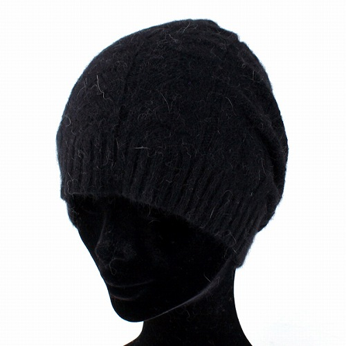 Knit hat women s hats Cap Angola mixed autumn winter ladies black (knit hat  birthday presents black winter Hat knit fashion popular know better) 71bfae2a382