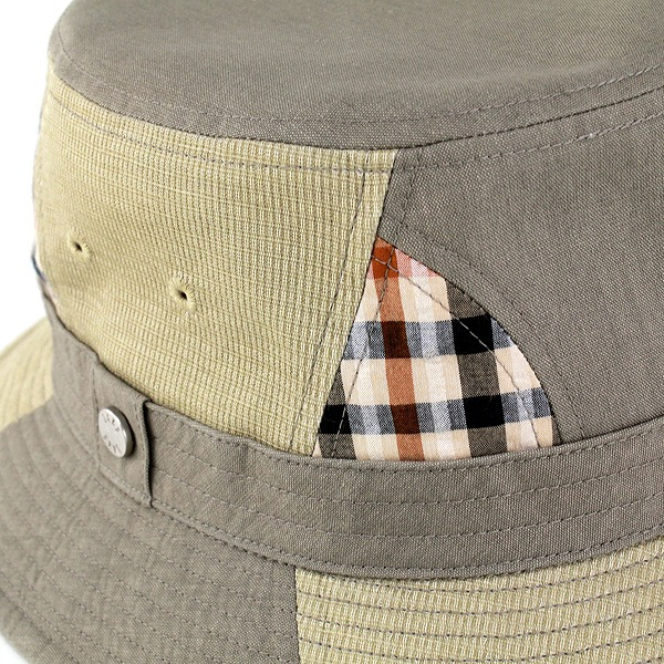 Daks 닥스핫트아우트드아 신사 하트나가에 최적 닥스 모자 패치워크 캐주얼 올리브[bucket hat] (사파리핫트사하리핫트멘즈아우트드아팟치워크 모자 맨즈 모자 멋 멋쟁이)