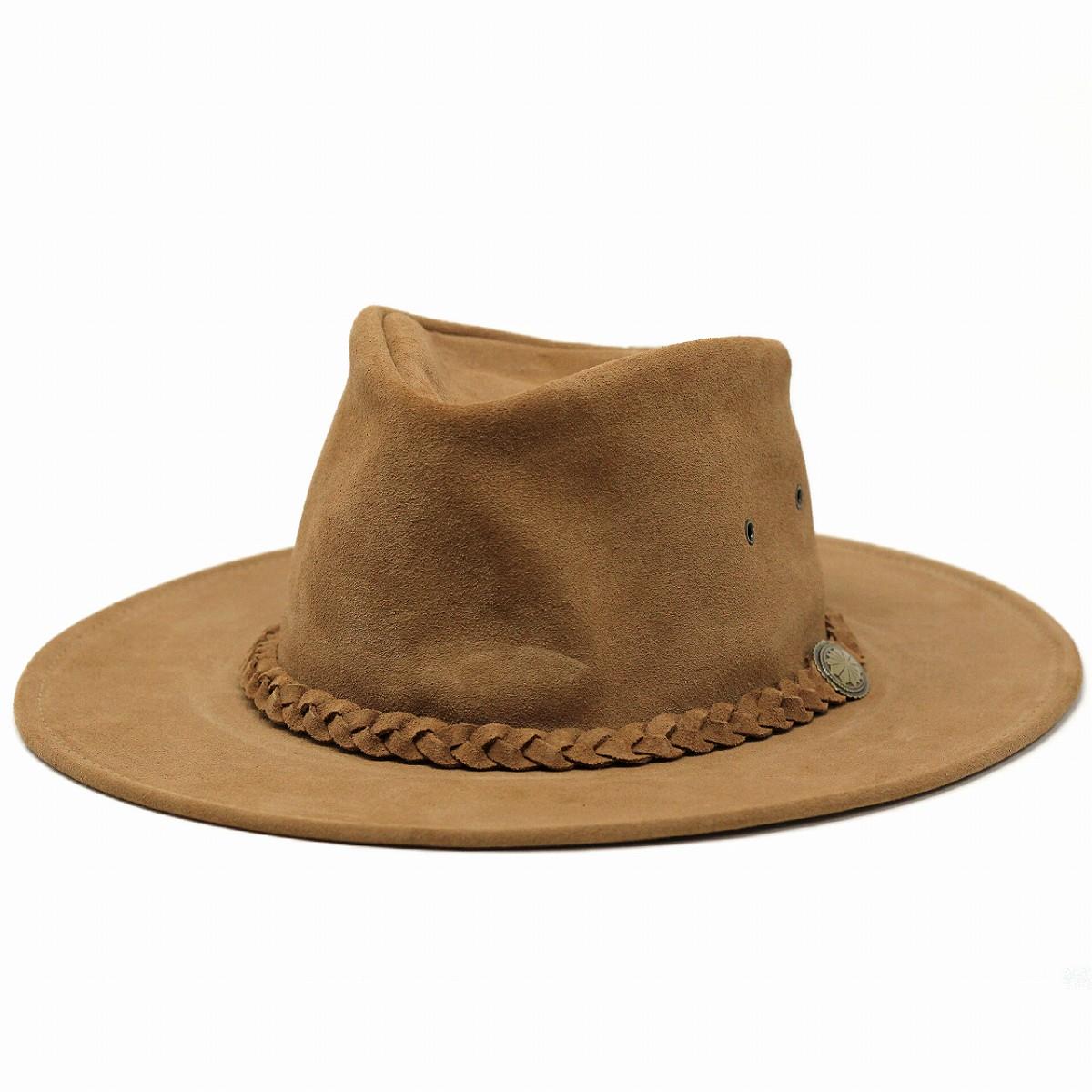 レザーハット 帽子 メンズ ヘンシェル カウボーイ テンガロン ハット スエード テンガロンハット カウボーイ HENSCHEL(秋冬 カウボーイハット ウエスタン ウエスタンハット 折りたたみ帽子 40代 50代 60代 ファッション レザー ウェスタンハット 紳士帽子 メンズハット)
