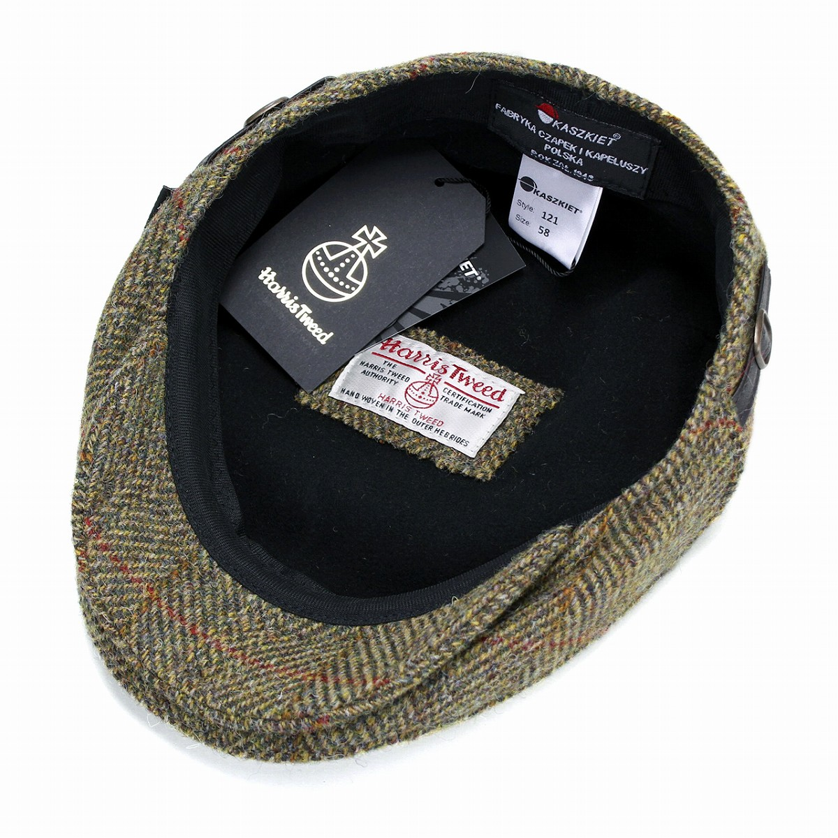 12d68a33d965b Casual Hunting Hat mens   casket KASZKIET Harris Tweed hunting Cap   autumn  winter wool import yellow of yellow men for father s day gifts gifts