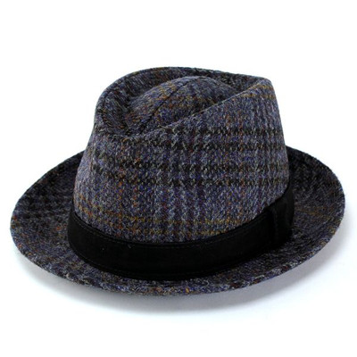 Turu Hat Hat Hat fashion Harris Tweed casket leather belt (Harris Tweed  autumn/winter for fall/winter merchandise Hat CAP and stylish fashion Hat  Caps