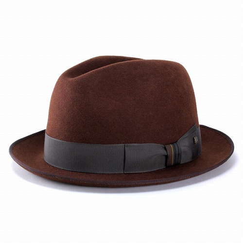 Racal ラカル フェルトハット メンズ 中折れ帽子 折りたたみ可能なウールブラウン 帽子 ハット キャップ 秋冬 (紳士ハット 中折れハット フェルト帽子 男性 大人 ウール おしゃれ 贈り物 お父さん 贈物 おくりもの) フェルト