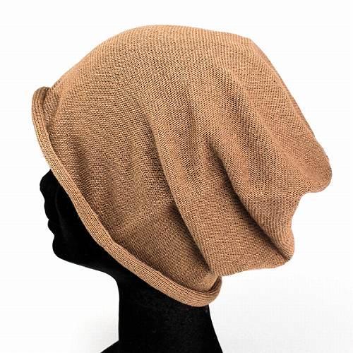 db5cffdb22460 Mocha tea   hats   men s   knit   women  s Le MILIEU   brand   Hat   Le  milieu   cotton hemp NetWatch   Hat   women s   knit   long missiles ...