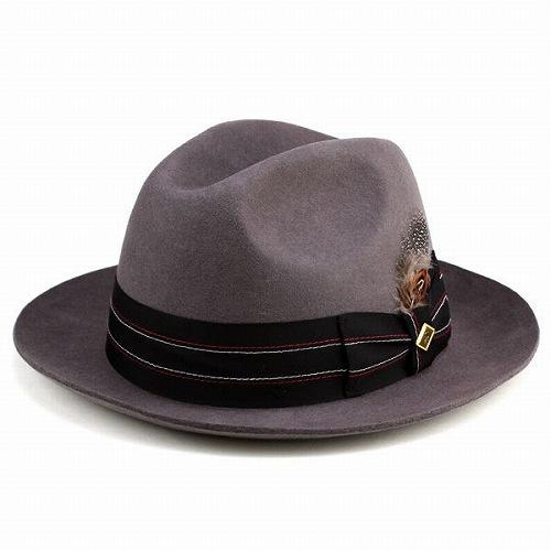 ワイドブリム 中折れハット フェルト 秋冬 帽子 メンズ ファッション headwear 大きいつば ステイシーアダムス グレー (帽子 ぼうし おしゃれ きれいめカジュアル ファッション ハット 30代 40代 通販 ) フェルトハット フェルト ハット