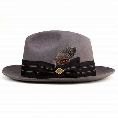 095b04a8017 Grey wide brim caps Hat felt autumn winter hats men s fashion headwear big  brim Stacy Adams (hat CAP and clean stylish folks casual fashion Hat 30 s  40 s ...