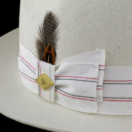 Wide brim Caps hats and felt winter Hat men's fashion /headwear / Stacy Adams large collar / white / ivory (brim wide fall for fall/winter merchandise Hat CAP and adult casual fashion collar wide Hat Caps hats felt Hat plume)