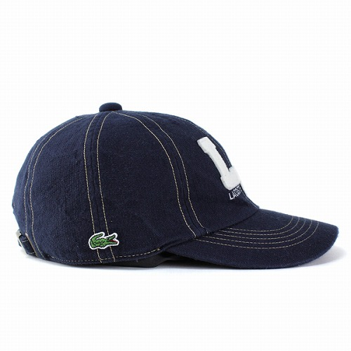 e8982525431d6a ... Caps men's hats LACOSTE Lacoste baseball cap all season cotton / wash  processing old style Navy ...