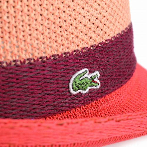 The accessory present gift for the knit coral orange man is casual in  tricolor color summer in Lacoste men hat LACOSTE hat soft felt hat spring  and summer fb7ce55c142c