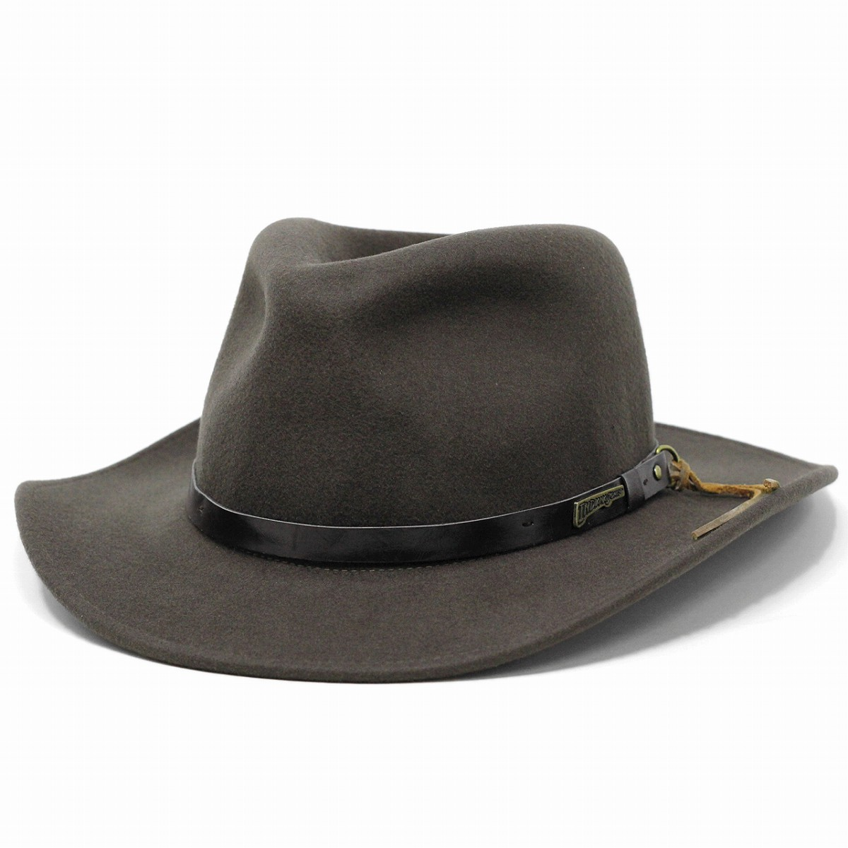 dc8aa1240 Cowboy hats felt hats Indiana Jones Hat men's wide brim leather-like belt  wool winter Western adventure / Brown tea