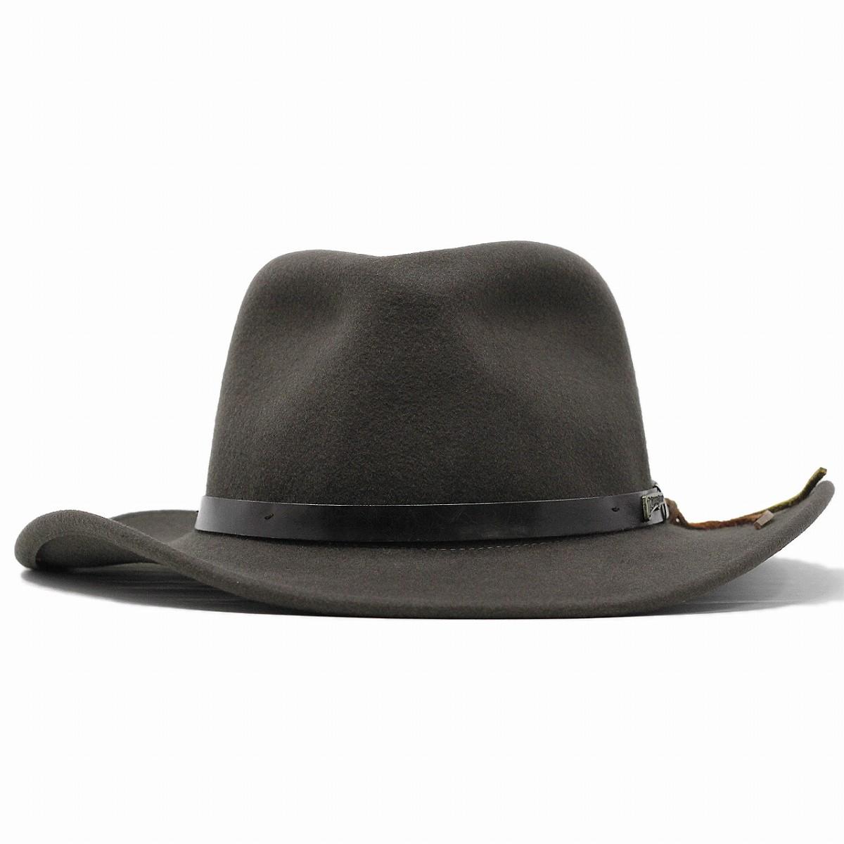 bb5fd7f27 Cowboy hats felt hats Indiana Jones Hat men's wide brim leather-like belt  wool winter Western adventure / Brown tea