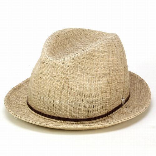 daks ハット メンズ 中折れ 帽子 56cm 58cm 60cm BL型 ダックス 春 夏 キビラ麻 リネン100% 牛革ベルト 高級 中折れ帽 紳士 シンプル アウトドア 日よけ 涼しい 中折れハット / ナチュラル[ fedora ] ギフト プレゼント