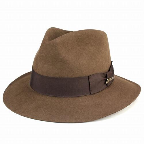 ハット メンズ 帽子 つば広 インディ・ジョーンズ ワイドブリム INDY hat ファーフェルト 秋 ぼうし 冬 中折れハット Indiana Jones ブラウン 茶 紳士 男性用 小物 プレゼント ギフト 高級 上品 [fedora] フェルトハット フェルト ハット