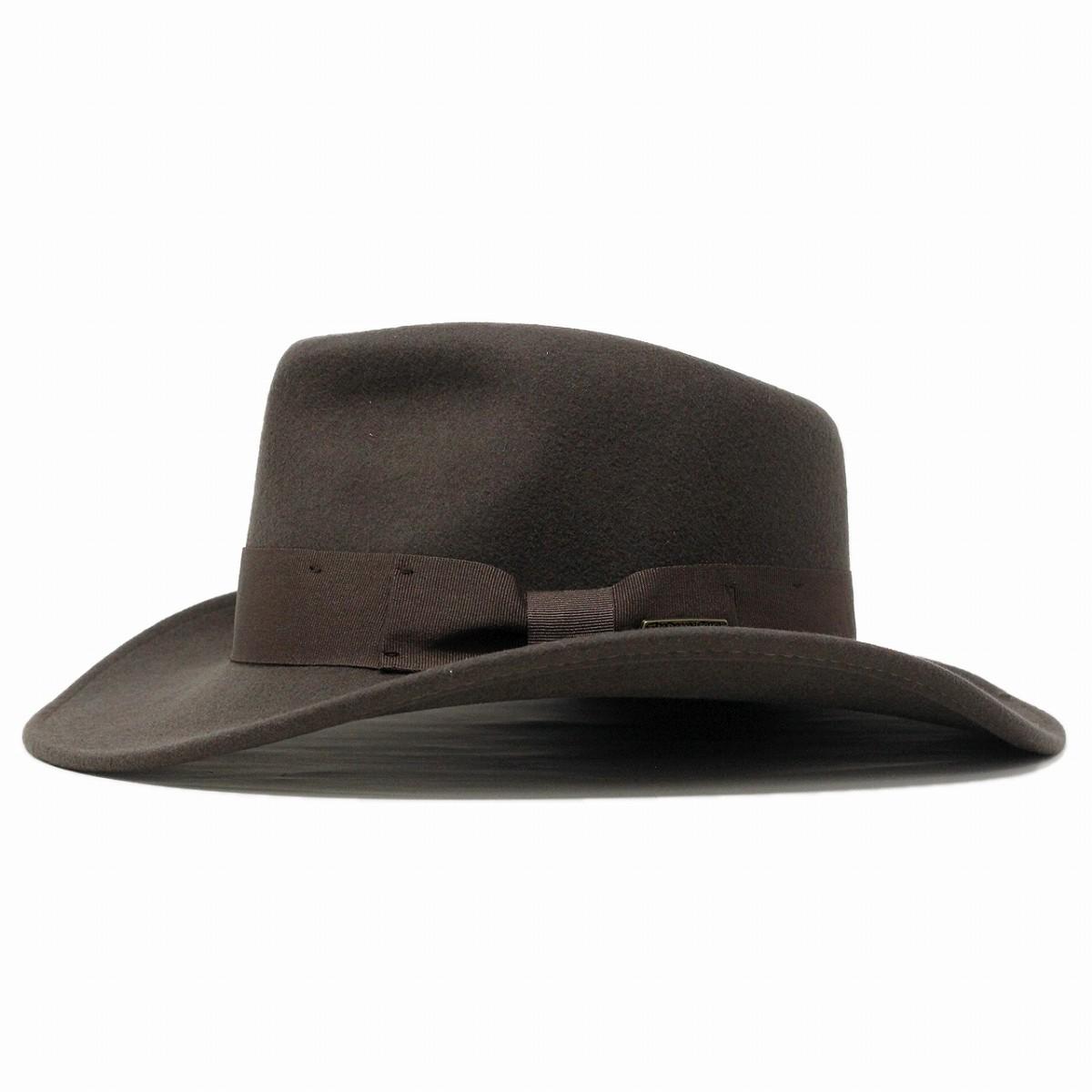 045d2f93cb92e Wide brim Hat hats Indiana Jones wool felt Hat men s imported INDIANA JONES  wild autumn winter fashion   Brown Brown