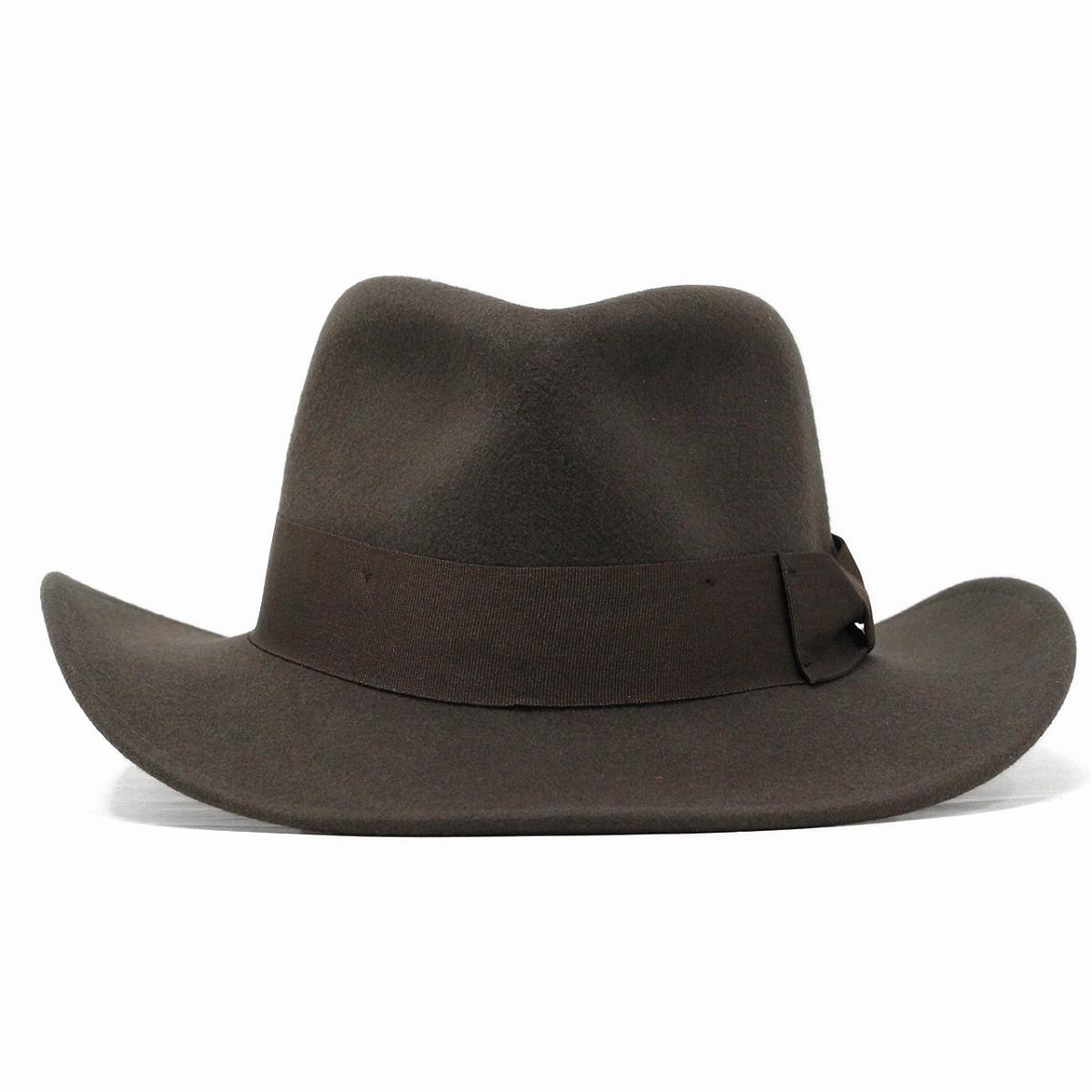 9319349e71ec8 ELEHELM HAT STORE  Wide brim Hat hats Indiana Jones wool felt Hat men s  imported INDIANA JONES wild autumn winter fashion   Brown Brown