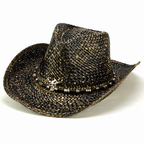 d3529e37c6a Cowboy hats mens Hat Fedora Hat rock Western wide brim skull skeleton DPC  summer DORFMAN PACIFIC Dorfman black black man outdoor casual gentleman  (Cap and ...