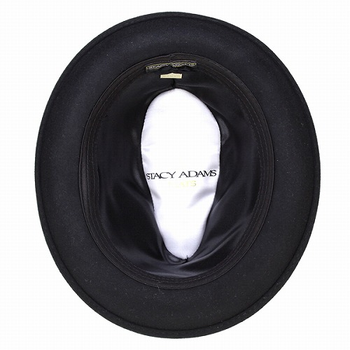 Hat Hat mens Caps hats import brand Stacy Adams 2-tone felt STACY ADAMS cement / black