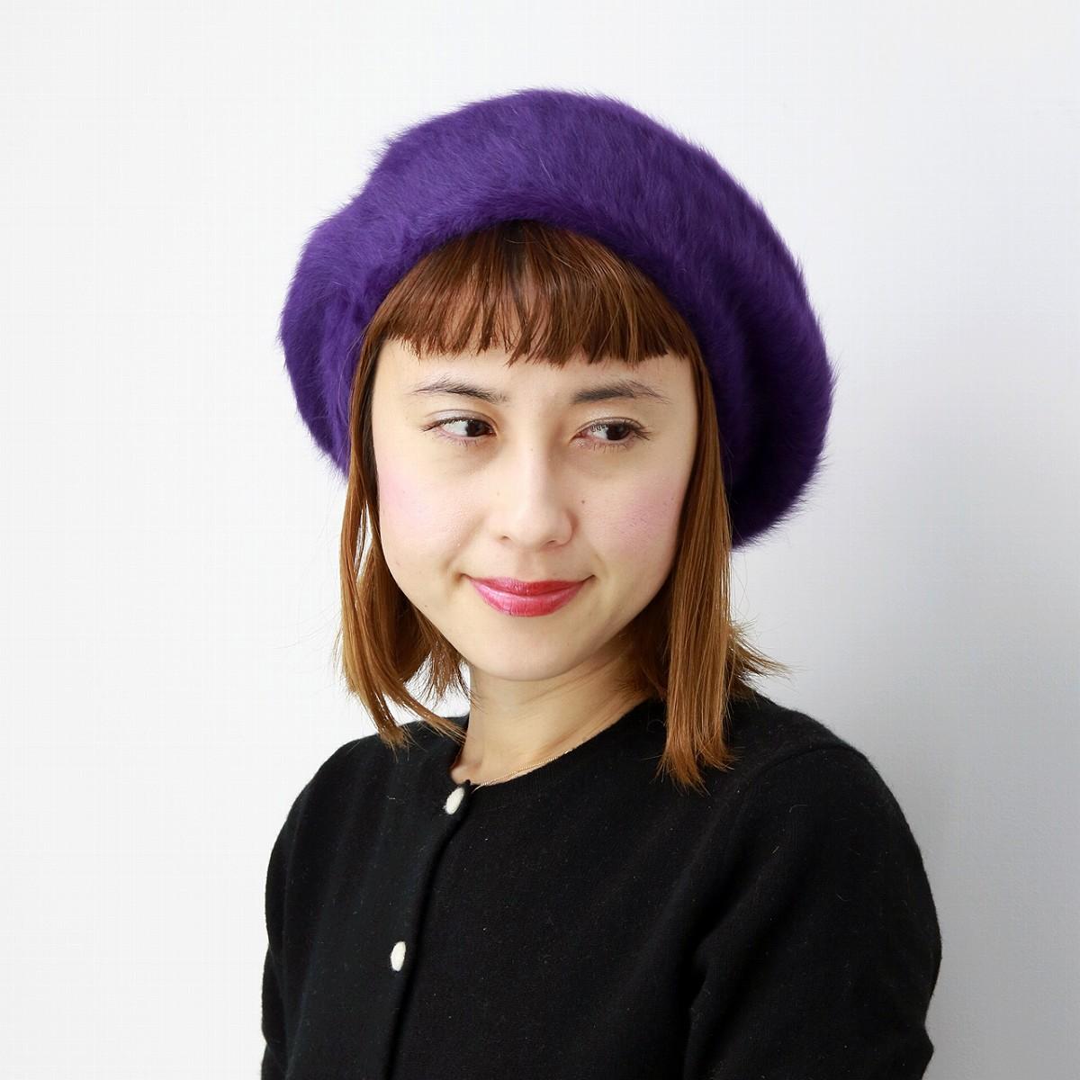 33c438841f834 Beret women s hats women s   loose in fluffy Angora rabbit fur beret Cap  fall winter ...