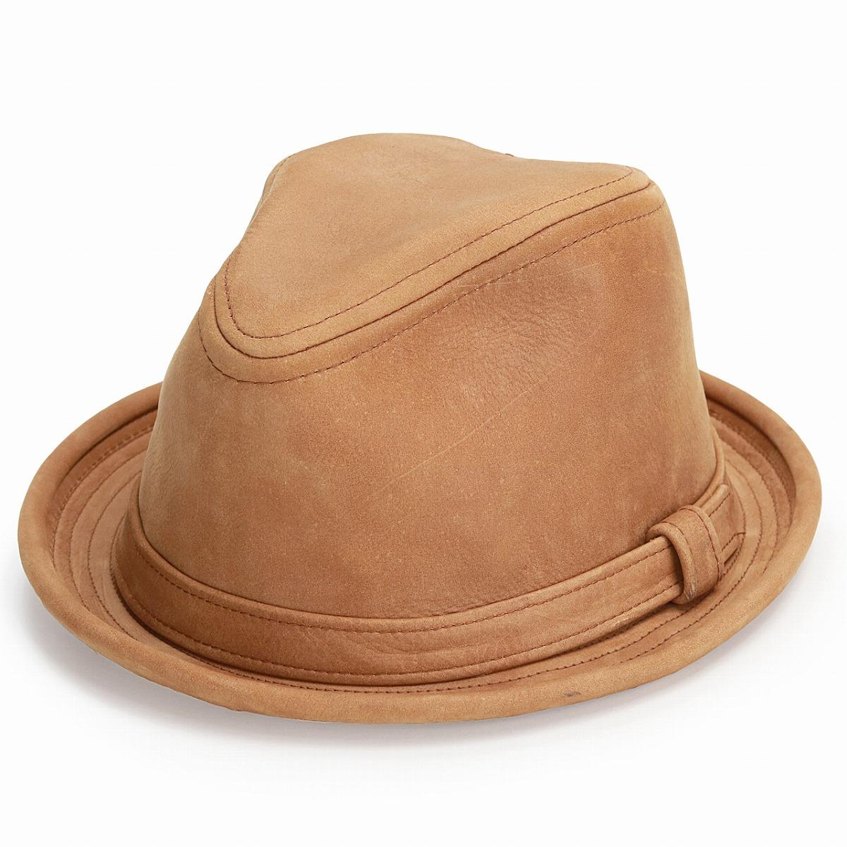 c4dcc2b5b9a ELEHELM HAT STORE: Men's New York Hat tear drop leather vintage / leather  short brim / 9290 Vintage Leather Fedora / tea last NewYorkHat Hat |  Rakuten ...