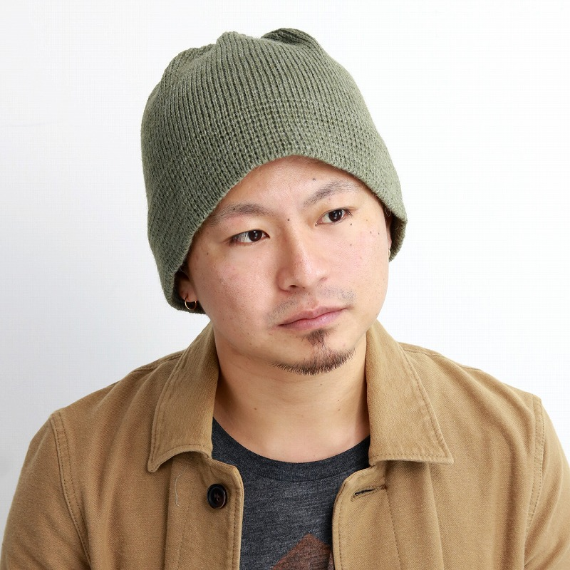 823ac4bc6a1 ELEHELM HAT STORE  The   khaki  beanie cap  man hat present Christmas gift  that hat cold protection of the knit hat ニットワッチアルパカ blend knit hat ...