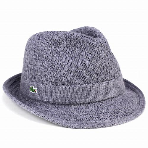 69636cc25c2 Hat knit winter mens Hat Lacoste LACOSTE wool grey gentlemen men s  accessories gifts father s day luxury Trad classy
