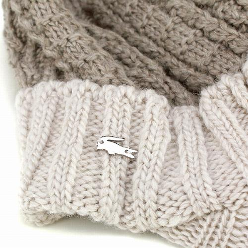 Knit Cap flanged low Lacoste   men s ladies and fashion casual winter  sports   Hat   beige Japan wool LACOSTE knit CAP and 1ea16fd9900d