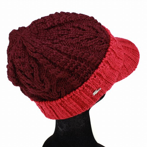 Knit hats men s rim low Lacoste   fashion casual winter sports   wool hats    red wine made in Japan LACOSTE knit CAP and ebd748bc1da0