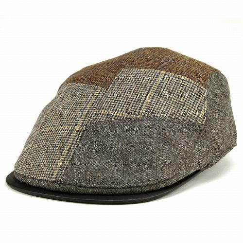 DAKS 헌팅 모자 멘즈닥스 가을과 겨울 헌팅모멀티 패턴 울 소재 카키[ivy cap]가을과 겨울 모자