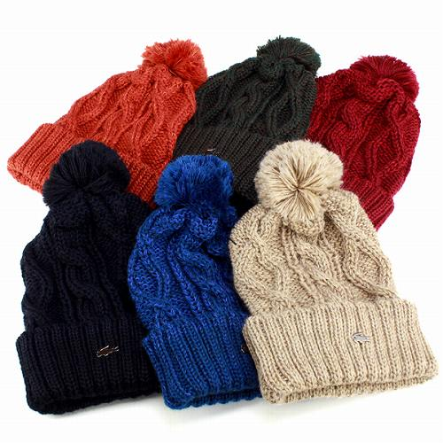 bbcc7b69bb9 Knit hat women s Pom Pom knit watch mens Lacoste Hat autumn winter winter  sports the perfect cable knit Blue Blue men s knit Cap LACOSTE Japan made