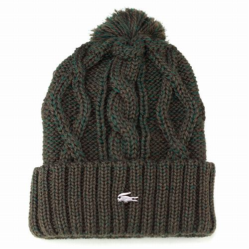 Knit hats men s Lacoste women s Pom Pom knit watch Hat autumn winter winter  sports the perfect cable knit Green Green men s knit Cap LACOSTE Japan made 1ce49fdefb8