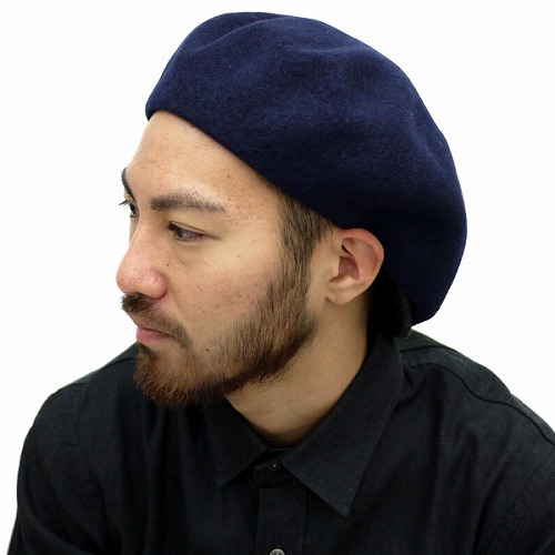 Racal beret Hat mens local brim with wool 100% winter beret black x black  (hats men s made in Japan CAP and boushi) 57c6264c19e
