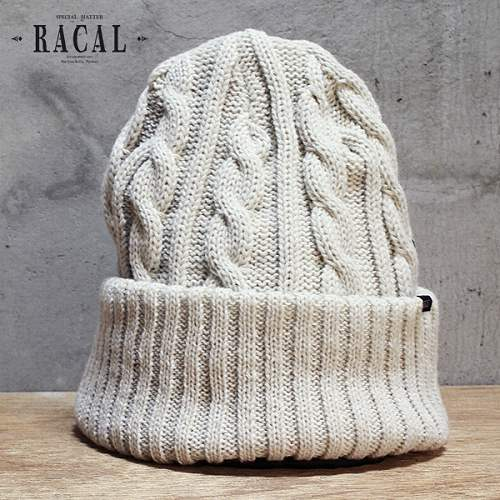 Racal local knit hats winter s thick cable knit NetWatch off-white hat hats  caps knit ... a912d53e375
