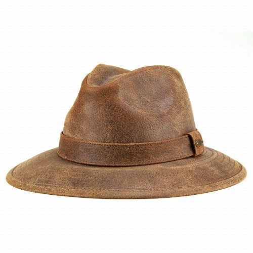 Leather Hat mens   wide brim all down Hat   cowboy hats Stetson leather  wild  OUTBACK   Hickory Brown Brown men s STETSON Dorfman hat (shop hats) 160cb942095