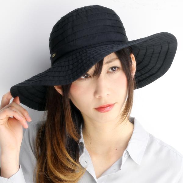 2bbd7d6eff3e4 Dorfman Pacific Hat UV cut collar wide Womens scalar Hat SCALA LC511 Ribbon  crasher UV cut black Dorfman (bladder and fashion)