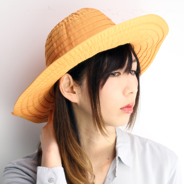b4880ab68fdc0 Hat ladies collar wide scalar Hat SCALA LC511 Ribbon crasher UV cut UV cut  apricot Orange Dorfman Pacific Dorfman (bladder and fashion)