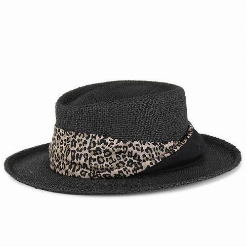 cc572213e Hat women's hats Leopard summer spring scalar SCALA straw-hat Dorfman  Pacific Dorfman black