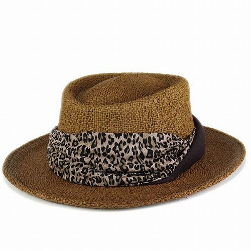 3d8566d90 Hat women's hats Leopard summer spring scalar SCALA straw-hat Dorfman  Pacific Dorfman chocolate brown (hat shop hats) [P19May15]