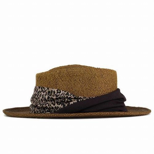 3d8566d90 Hat women's hats Leopard summer spring scalar SCALA straw-hat Dorfman  Pacific Dorfman chocolate brown (hat shop hats) [P19May15]