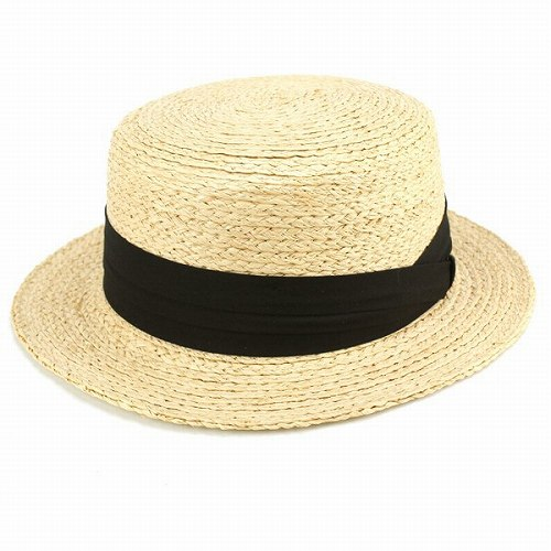 0e9e85d02e1 Spring summer Boater straw hat soft material mens Womens straw hats natural  fiber Black Ribbon (men and women cum for men s women s accessory gifts  birthday ...