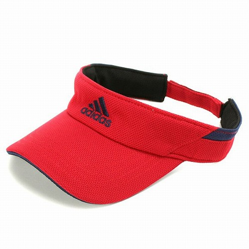 adidas sun visor mens visor ladies Hat accessories adidas Golf sports  running Red UV cut  visor  (men s women s visor sports outdoors for the  summer awning ... eaaac46eece