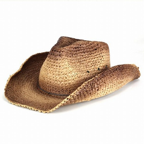 a649fbc8f6d ELEHELM HAT STORE  Cowboy hat  PETER GRIMM   spring summer   vintage    straw hat  pgd9661 JULES Brown (mail-order fashion Hat hats)