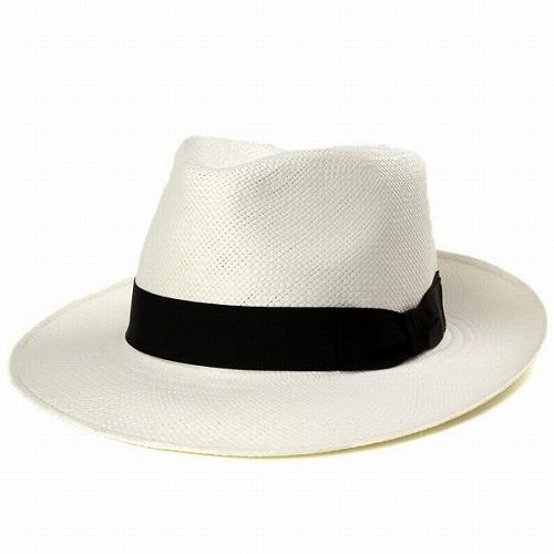パナマハット ツバ広 パナマ帽 春夏帽子 エクアドルパナマ 中折れハット ワイドブリム 帽子 メンズ シンプルデザイン 日よけ 天然繊維 ブリーチ オフホワイト [straw hat] [panama hat] プレゼント ギフト 春夏帽子 送料無料